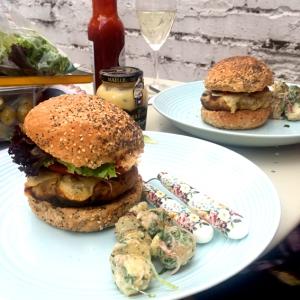 Cannellini & Gruyere Burgers