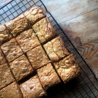 HEAT COOKS THE BOOKS: Tom Kerridge's white chocolate & pistachio blondies