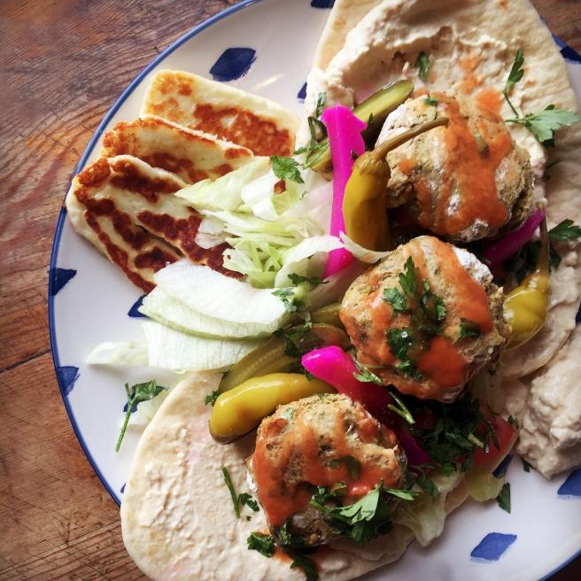 Lebanese Falafel Wraps