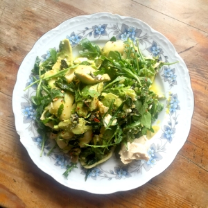 Spring Green & Avocado Pasta Salad