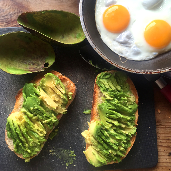 Birthday Avocado & Eggs On Toast with Chilli Sauce