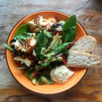 Halloumi salad with honey & mustard dressing