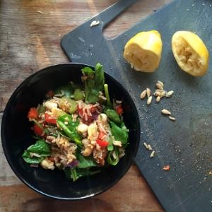 Mum's Warm Rice Salad