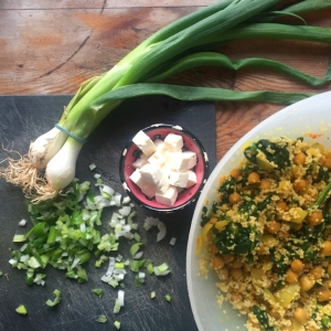 Poor Man's Spinach & Chickpea Couscous