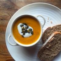 Lentil & pumpkin soup