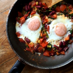 Spicy Bean & Tomato Eggs