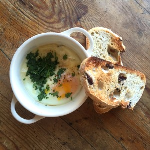 Potted Swiss Cheese Eggs
