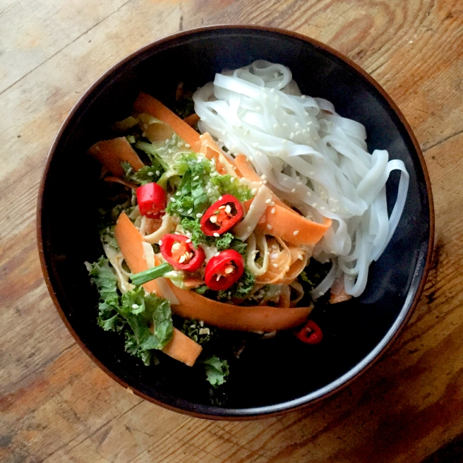 HEAT COOKS THE BOOKS: Tahini Crunch Noodle Salad