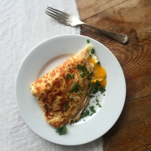 PANCAKE DAY: Cheese & Egg Crepes