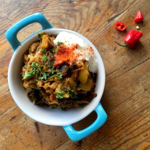 Aubergines & Spinach Curry