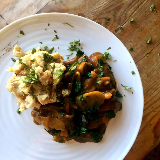 VALENTINES DAY: Leek & Mushroom Breton with Chickpea Mash