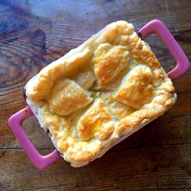 Mini Shallot & Mushroom Pies