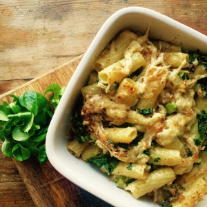 Rigatoni Cheese with Kale