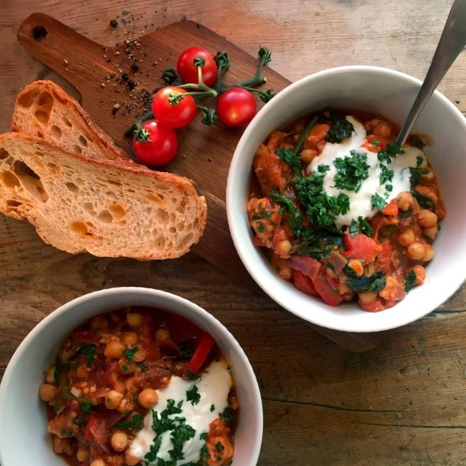 Halloumi & Chickpea Stew