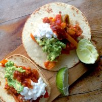 Soft chipotle tacos