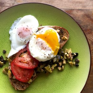 Salty Olive Brunch Eggs