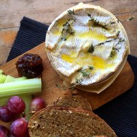 Whole baked Camembert