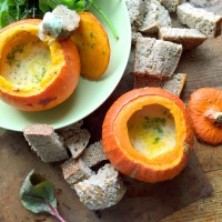 Mini squash fondues