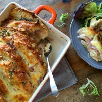 St George's Day savoury bread & butter pudding
