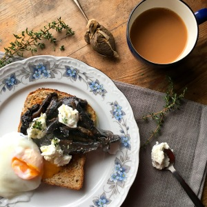 Mushrooms & Goats Cheese on Toast