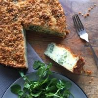 Broccoli & cheese potato cake