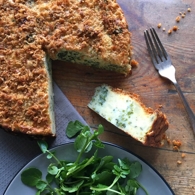 Broccoli & Cheese Potato Cake