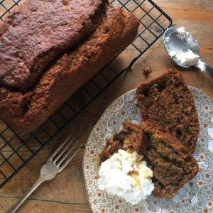 Banana Cake with Ricotta & Honey