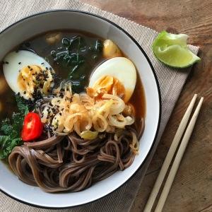 Soba Noodle Miso Bowls
