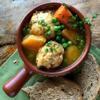 Vegetable pot roast with dumplings