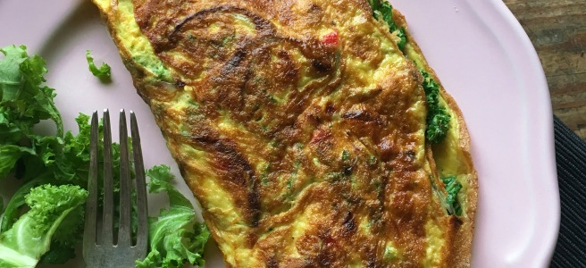 Kale & Cheese Omelette