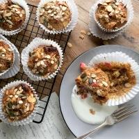 Rhubarb breakfast muffins