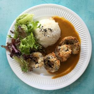 Mushroom Katsu Curry