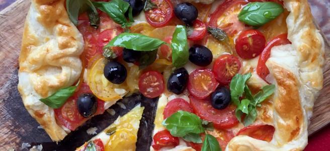 Smoked Mozzarella & Tomato Tart