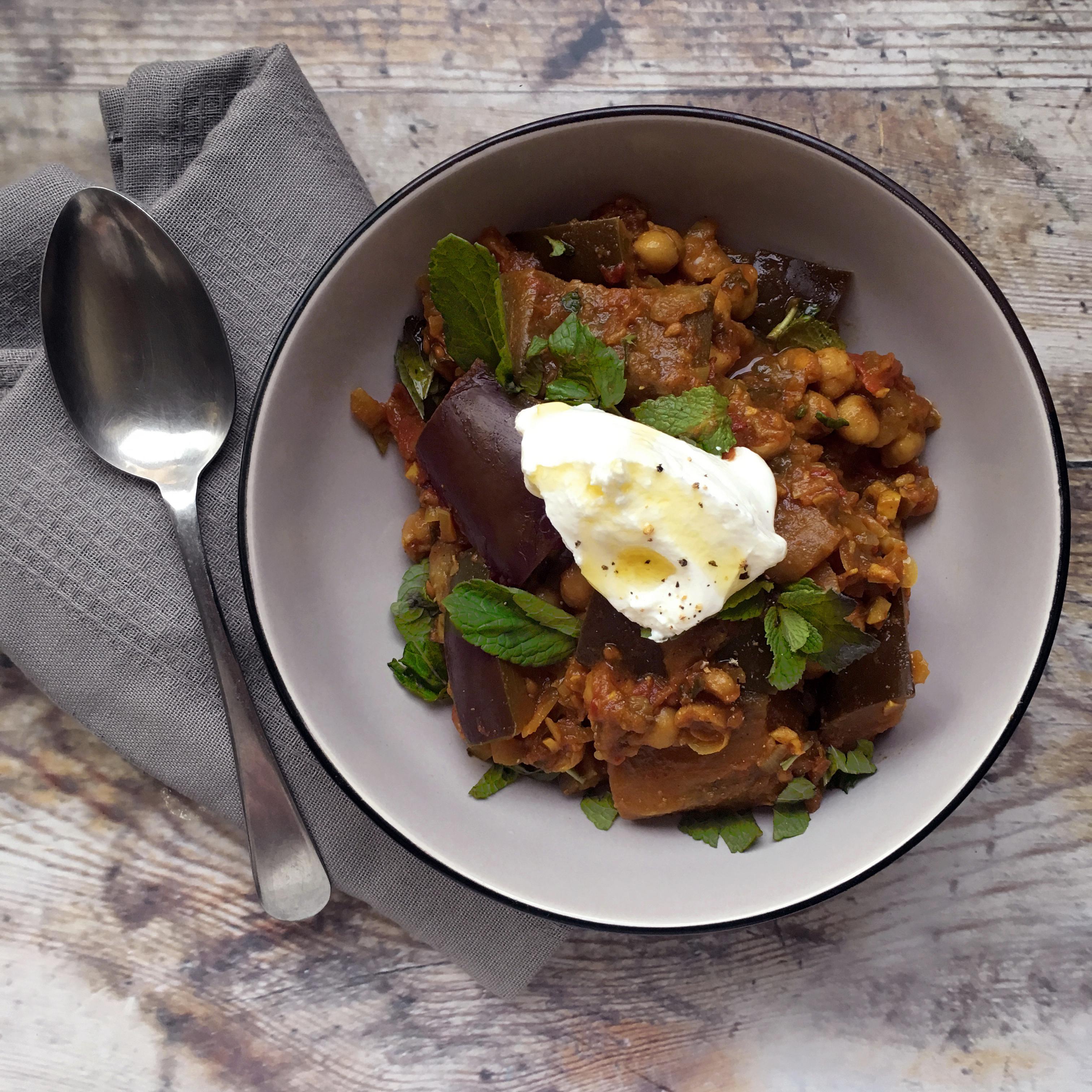 Aubergine & Chickpea Stew