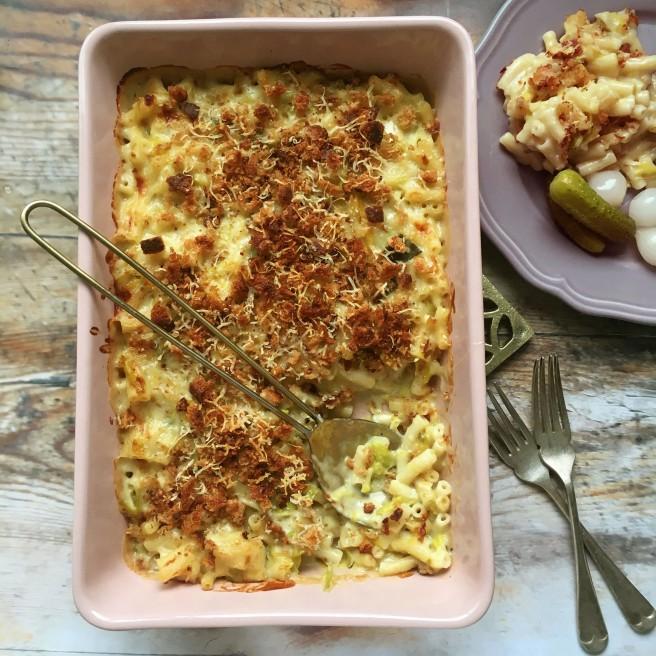 Leek mac & cheese