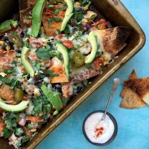 Healthy-ish loaded nachos