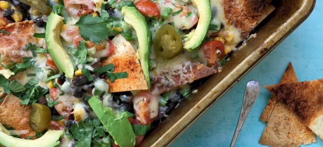 Healthy-ish loaded nachos