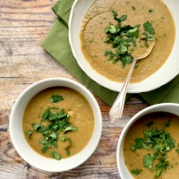 Thai green lentil soup