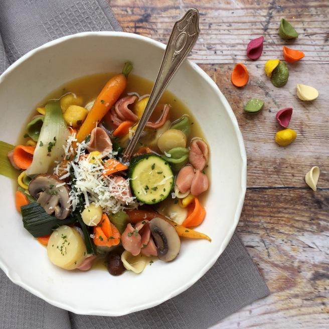 Braised vegetable orecchiette