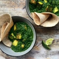 Saag paneer with kale