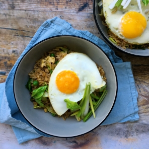 Spring green egg fried rice
