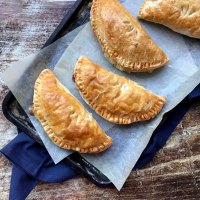 Cheese and onion puff pasties