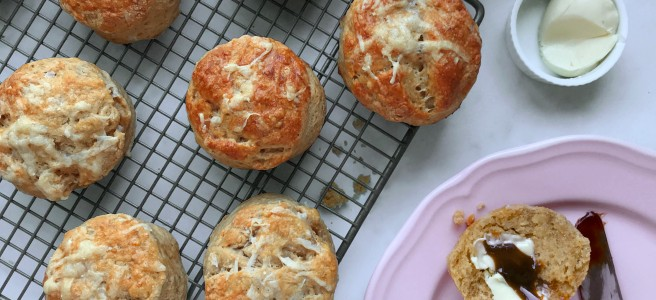 Cheese and Marmite scone
