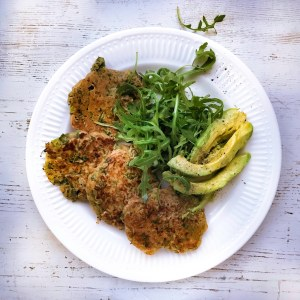 Savoury green drop scones